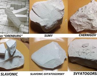 "Edible Chalk ,chalk from Ukraine , 400gr. SET#5. Sawn ""ORENBURG"", Sumy, Chernihiv, Slavic, Slavic - Svyatogorsk, Svyatogorsk.  Samples free."