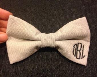 Monogrammed bow ties