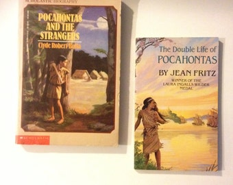 BOTH BOOKS!! Pocahontas Vintage Young Reader Books