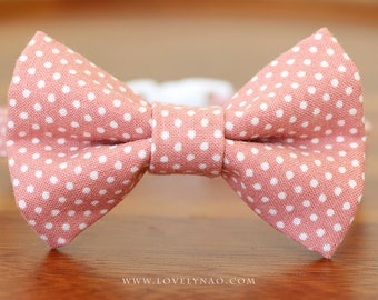 Lovely Dots Cat Bow Tie Collar – Rose Pink