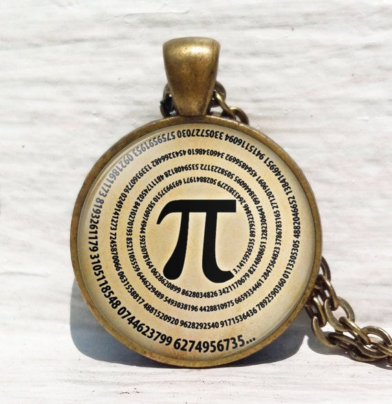 Pi Necklace, Numbers of Pi Pendant, Mathematics Math Necklace, Math Teacher Gifts, Science Jewelry