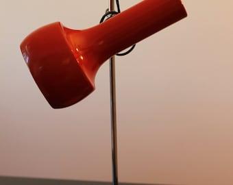 Vintage desk lamp / table lamp / retro red / desk light / mid century / seventies / 1970s