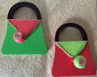 Purse-Shaped Hooks - Colorful and Sturdy!