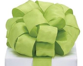 Green Taffeta Wired Ribbon #9