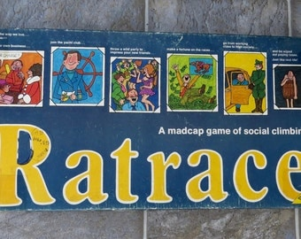 Vintage RatRace Board Game 1970 Rare