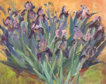 Van Gogh iris-like