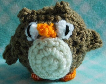 Cute Crochet Mini Owl Amigurumi Plush