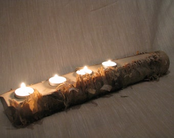 Candle Holder, Reclaimed wood, Home decor, Tealight Holder- Wood