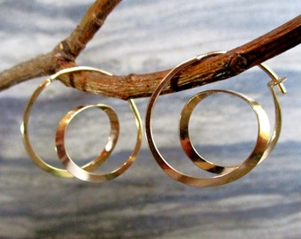 modern minimalist simple spirals hoops