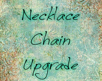 """Necklace Chain Upgrade. 27"""" or 32"""" Silver Chain. Flat Link. Cable Chain. Chain Necklace. Antique Silver Chain. 2.3 mm Chain. Lobster Clasp."""