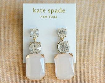 "KATE SPADE Crystal Earrings ""Trivial Segment"" Rare"