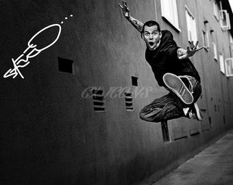 Steve-O signed photo print - 12x8 inch - high quality -