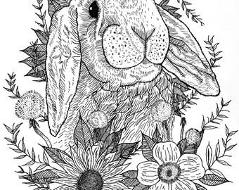 Flora - 8 1/2 x 12 in. Digital Print
