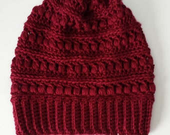SALE | Textured Slouchy Beanie | The Fiona | Crochet Hat | Made to Order