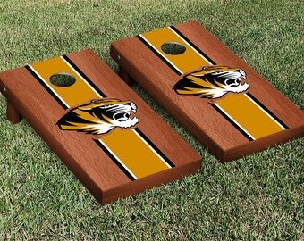 Missouri Mizzou Tigers Cornhole Game Set Stripe Designs
