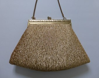 Vintage Gold Thread Evening Bag