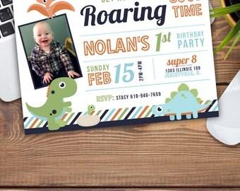 Dino Birthday Party Announcement/Invitation