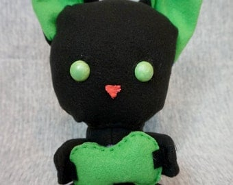 Green and Black Gaming Cat
