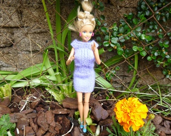 skirt and purple top for fashion doll set