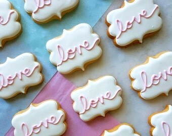 Love Plaque Sugar Cookies