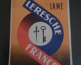 Shaving blades French Leresche vintage twenty boxes of five blades in the original presentation box