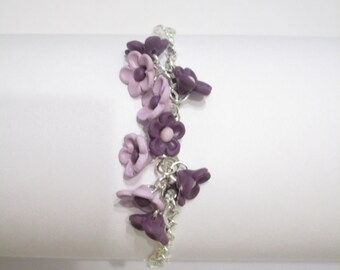 Bracelet «Purple flowers»
