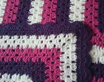 Beautiful granny square throw.