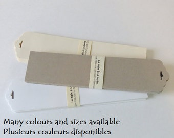 Scalloped Shape Paper Tags or bookmarks (24) Many colours available.
