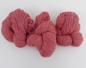 Wool yarn hand dyed with natural plant dyes