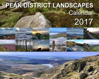 Peak District Landscapes Calendar 2017 A4 for Derbyshire Wildlife Trust