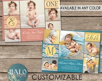 Birth Announcement & Birthday Inivtation - printable card