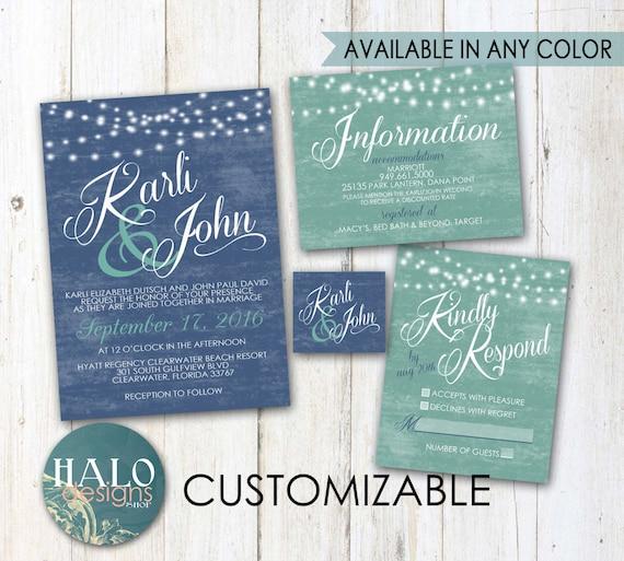 Beach wedding invitations invitation kit thank you card save the