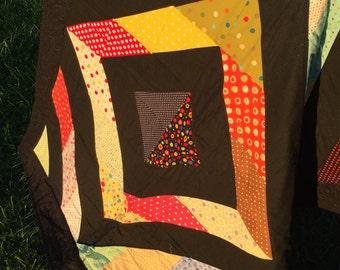 Multicolor lap quilt