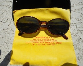 king foo optical co glasses frames sunglasses case and cloth estate item vintage