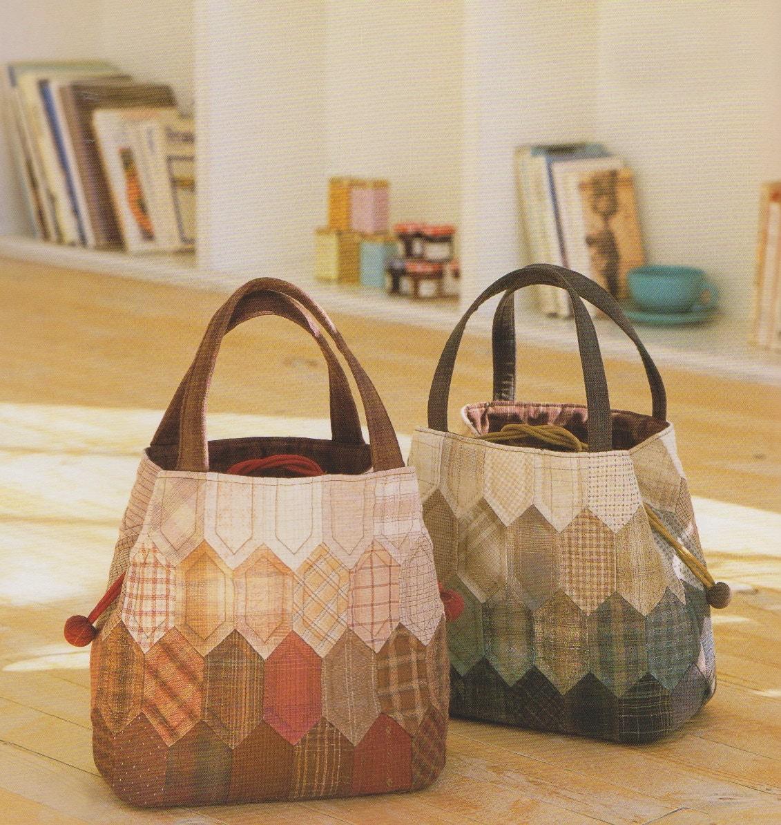 Pdf pattern tutorial sewing duffle quilt bag handbag purse