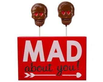 Valentine's Day Chocolate Skull Lollypops *Perfect for School Valentine's Favors  *Valentine's Day Gift
