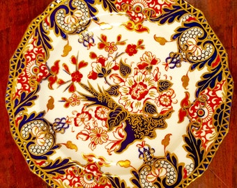 Antique Royal Crown Derby Imari Dessert Plate 8 7/8 inches, eleven available, priced individually