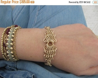 10 usd Off on All Items Chainmaille Bracelet, Gold Chainmaille Bracelet