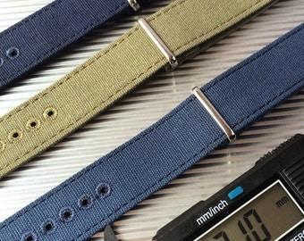 Canvas strap - 21 mm watch strap