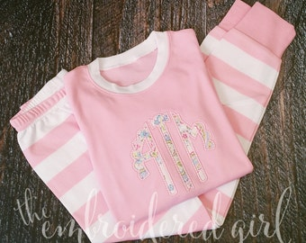 Pink and White PJ's