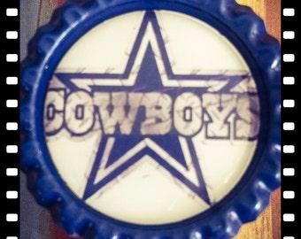 Retractable Dallas Cowboys Name Reel Badge Pulls