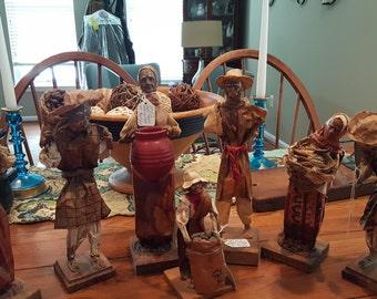 Set of 7 Mexican Folk art