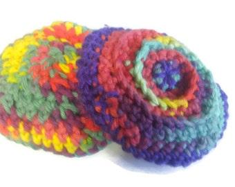 Dish Scrubbers, Handmade Dish Scrubbies Set of 4, Crochet Sponges, Crochet Dish Scrubbers, Pot Scrubbers, Pan Scrubbers, Cotton Dish Scrubby