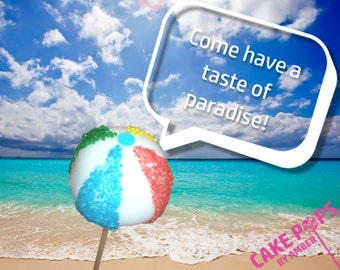 Beach Ball Cake Pops - Half Dozen