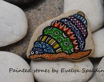 Hand painted stone, Snail