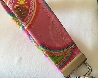 Handmade Key Fob Wristlet, Monogram Key Chain, Key Fob, Personalized Key Fob