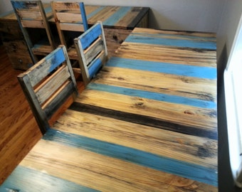 Sara's Rustic Desks and Chairs