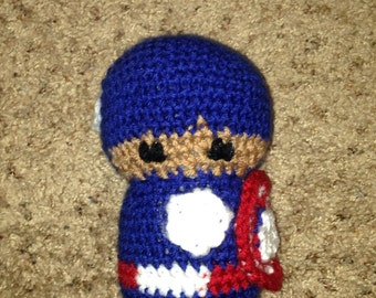 Crochet Avengers Captain America doll