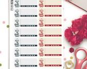 Films Movies Review Functional Planner Stickers | Erin Condren Half Boxes | Kikki K | Filofax |  Retro | Rating