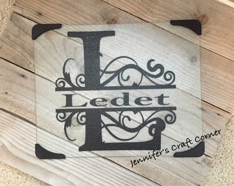 Personalized Cutting Board, Wedding Gift, Anniversary Gift, Monogrammed Cutting Board, Co Worker Gifts, Mother's Day, Mom Gift, Momogramm